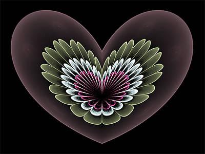 Digital Art - Heavenly Heart by Barbara A Lane