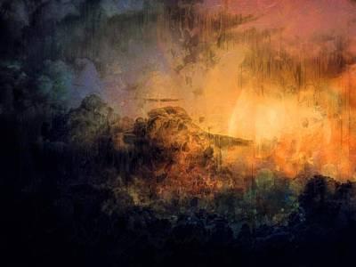 Digital Art - Heavenly Light 2 - Abstact Art by Lilia D