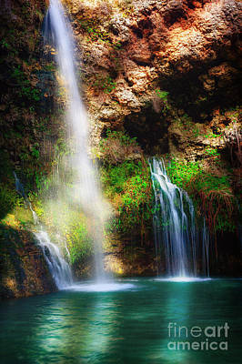 Photograph - Heavenly Light At Dripping Springs II by Tamyra Ayles