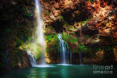 Photograph - Heavenly Light At Dripping Springs by Tamyra Ayles