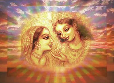 Religious Mixed Media - Heavenly Love 2  by Ananda Vdovic