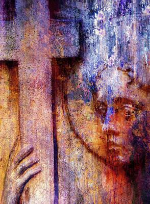 Mixed Media - Heavenly Peace Abstract Realism by Georgiana Romanovna