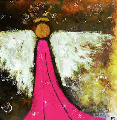 Painting - Heavenly Pink Angel by Tina LeCour