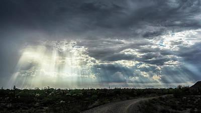 Photograph - Heavenly Rays And Rain  by Saija Lehtonen