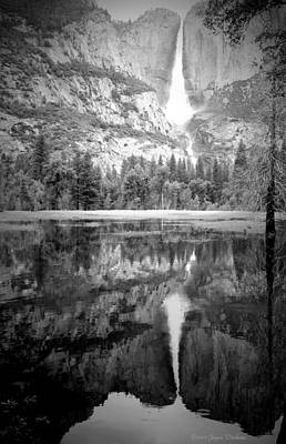 Photograph - Heavenly Reflections At Yosemite B And W by Joyce Dickens