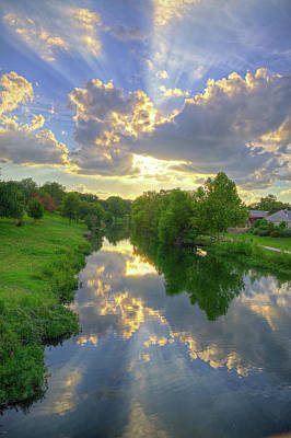 Photograph - Heavenly Reflections On Cibolo Creek by Lynn Bauer
