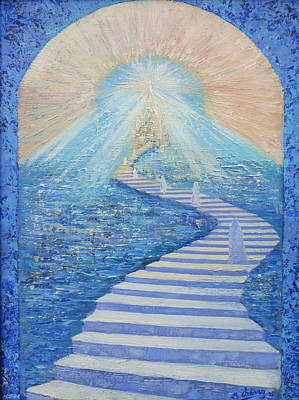Painting - Heavenly Stairway by Miguel A Chavez