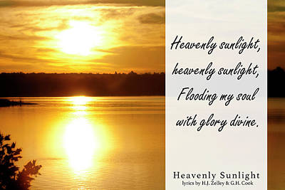 Photograph - Heavenly Sunlight by CE Haynes