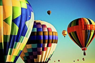 Photograph - Heavenly Sunlight, 2017 Albuquerque International Balloon Festival by Flying Z Photography by Zayne Diamond