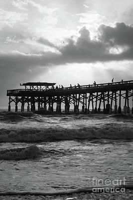 Photograph - Heavenly Sunrise Grayscale by Jennifer White