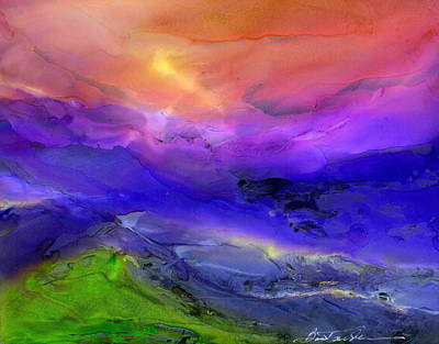 Wall Art - Painting - Heavenly Valley II by Alexis Bonavitacola