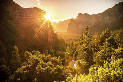 Sun Rays Photograph - Heavenly Valley by Kristopher Schoenleber