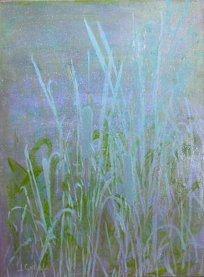 Wall Art - Painting - Heaven's Cattails #1 by Laura Gabel