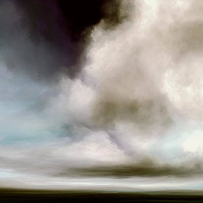 Abstract Landscape Mixed Media - Heavens Divide by Lonnie Christopher