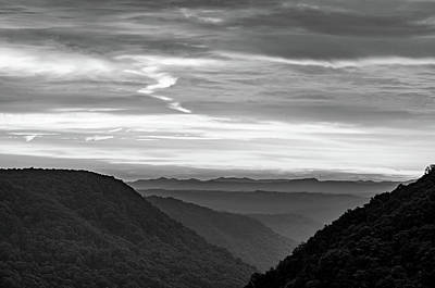 Photograph - Heaven's Gate - West Virginia Bw 2 by Steve Harrington