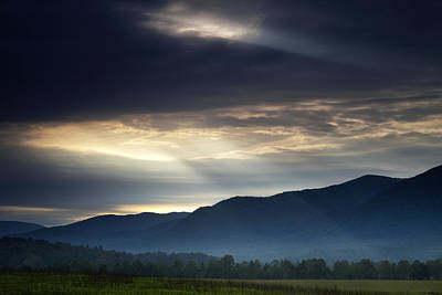 Cades Cove Photograph - Heaven's Light by Andrew Soundarajan