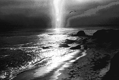 Photograph - Heavens Light Black And White by Gary Brandes