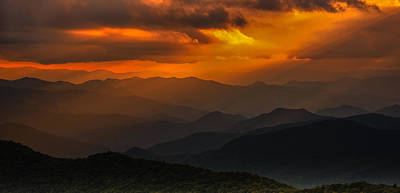 Photograph - Heaven's Light On The Blue Ridge Parkway by Reid Northrup