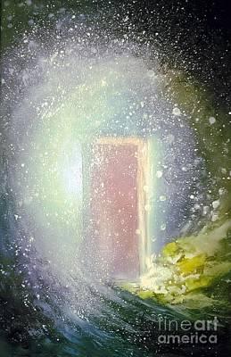 The Universe Painting - Heaven's Open Door by Vonicia Verton