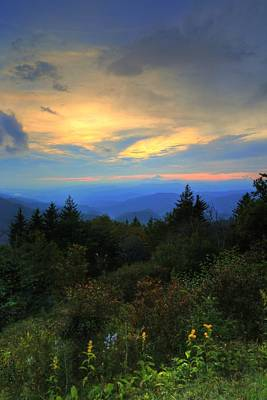 Photograph - Heavens Opening On The Smoky Mountains Off The Blue Ridge by Carol Montoya