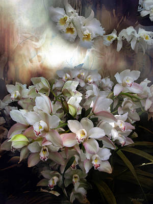 Art Print featuring the photograph Heavens Orchids by John Rivera