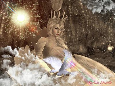 Holy Digital Art - Heaven's Peace by Dolores Develde