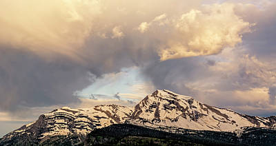 Photograph - Heavens Peak Dawn by Loree Johnson