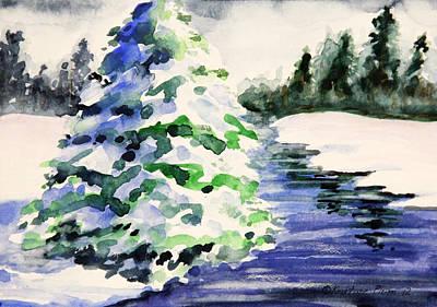 Kristine Painting - Heavily Laden by Kristine Plum