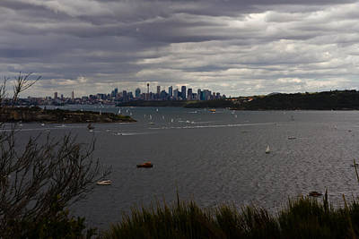 Photograph - Heavy Cloud Moves Over Sydney by Miroslava Jurcik