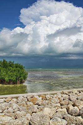 Photograph - Heavy Clouds In Key West by Bob Slitzan