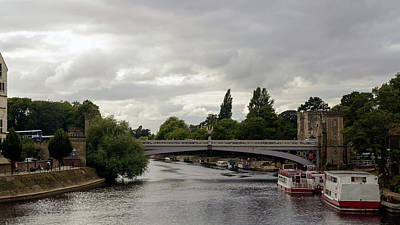 Photograph - Heavy Clouds Over Lendal Bridge York by Jacek Wojnarowski