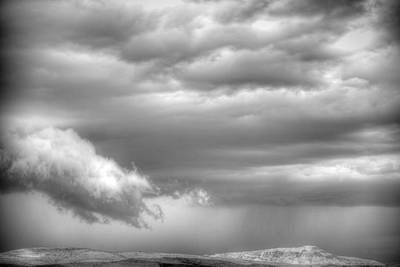 Photograph - Heavy Clouds by Robert Melvin