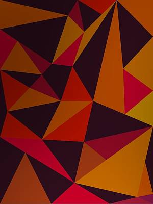 Abstract Digital Art - Heavy Composition With Triangles by Alberto RuiZ
