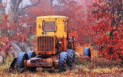 Photograph - Heavy Equipment In The Ozarks by JC Findley