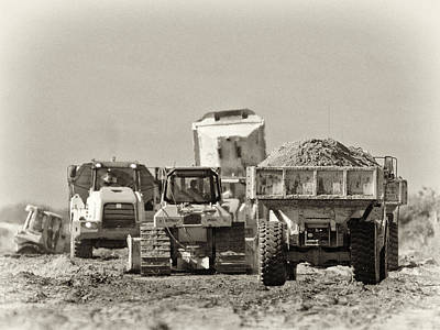 Heavy Equipment Meeting Art Print