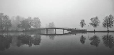 Photograph - Heavy Fog Over The Gota Canal In Sweden by Pixabay