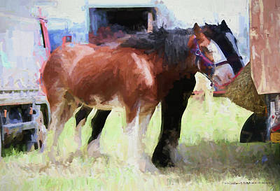 Digital Art - Heavy Horses by Roger Lighterness