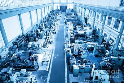 Industrial Photograph - Heavy Industry Workshop Factory by Michal Bednarek