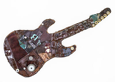 Heavy Metal Guitar Art Print by Tami Wood