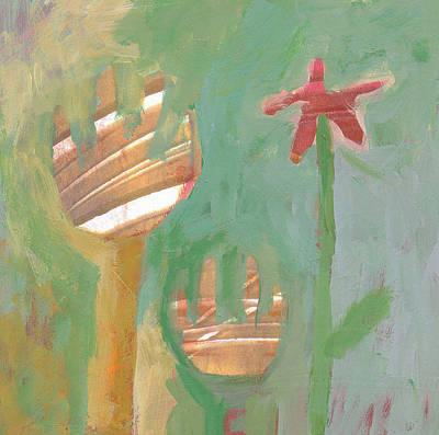 Mixed Media - Heavy Plant Crossing by Catherine Redmayne