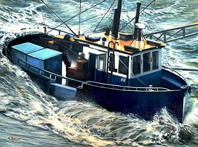 Painting - Heavy Seas by Eileen Patten Oliver