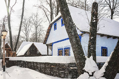 Photograph - Heavy Snow In A Romanian Village by Daniela Constantinescu