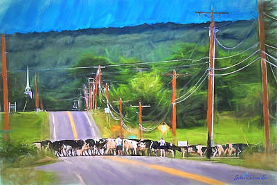 Painting - Heavy Traffic In Vermont by John Selmer Sr