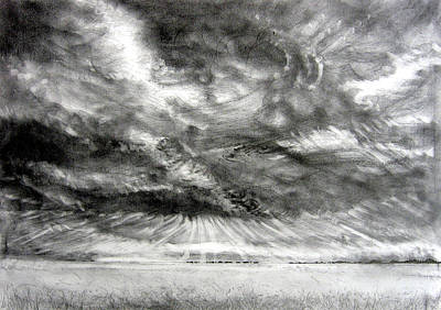 Drawing - Heavy Weather   by Arkis Krayl