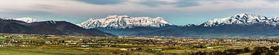 Photograph - Heber City And The Western Mountains by TL Mair