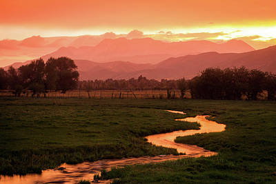 Photograph - Heber Valley Golden Sunset by Johnny Adolphson