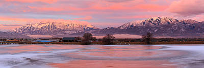Photograph - Heber Valley Winter Panorama by Johnny Adolphson