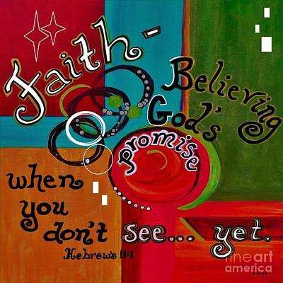 Hebrews 11 Faith Art Print