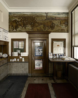 Photograph - Hebron Nebraska Post Office Mural by Art Whitton