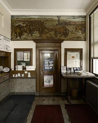 Hebron Nebraska Post Office Mural Art Print